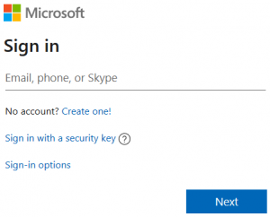 Microsoft Hotmail Sign In